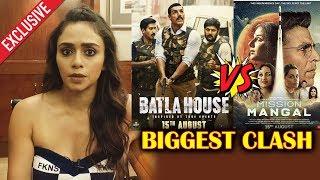 Amruta Khanvilkar Reaction On Batla House VS Mission Mangal CLASH
