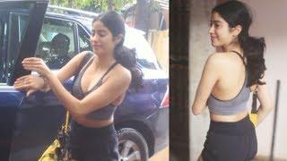 Janhvi Kapoor Spotted Outside Gym | Janhvi Kapoor Workout