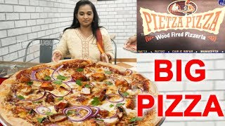 Pizza Pizza Restaurant Tolichowki | Big Chicken Pizza | Telugu Food Channel | Top Telugu Kitchen
