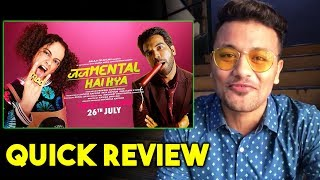 Judgementall Hai Kya Movie QUICK REVIEW | Kangana Ranaut | Rajkummar Rao