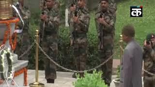 कारगिल विजय दिवस: श्रीनगर के बादामी बाग छावनी में राष्ट्रपति ने अर्पित की श्रद्धांजलि