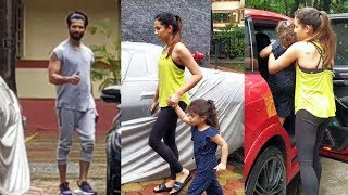 Shahid Kapoor & Mira Rajput With Daughter Spotted At I Think Fitness Gym Bandra