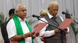 BS Yediyurappa takes oath as Karnataka CM for the fourth time