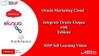Oracle Marketing Cloud Analysis Using Tableau | Eloqua and Tableau Integration