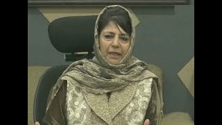 Mehbooba Mufti suspects NDA's move, tweets 'J&K political problem, not military one'