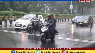 સુરતમાં શરૂ થયો ધોધમાર વરસાદ - MantavyaNews