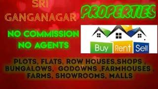 SRI GANGANAGAR  PROPERTIES - Sell |Buy |Rent | - Flats | Plots | Bungalows | Row Houses | Shops|