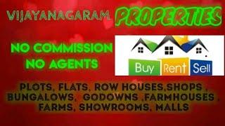 VIJAYANAGARAM  PROPERTIES - Sell |Buy |Rent | - Flats | Plots | Bungalows | Row Houses | Shops|
