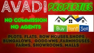 AVADI   PROPERTIES - Sell |Buy |Rent | - Flats | Plots | Bungalows | Row Houses | Shops|