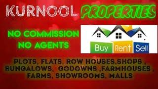 KURNOOL  PROPERTIES - Sell |Buy |Rent | - Flats | Plots | Bungalows | Row Houses | Shops|
