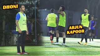 MS Dhoni Arjun Kapoor And Bollywood Celebs Playing Football Charity Match