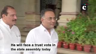 BS Yediyurappa arrives at Vidhana Soudha ahead of trust vote today