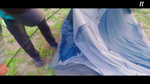 Pitching your tent Hindi
