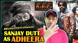 Sanjay Dutt As ADHEERA First Look Poster Out REACTION | Super Star YASH | KGF: Chapter 2