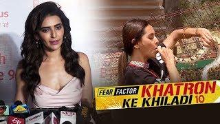 Karishma Tanna FIRST Reaction On Khatron Ke Khiladi 10 | Rohit shetty