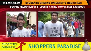 University Students Gherao Registrar Over Promotion Of Students With Less Than Two Backlogs