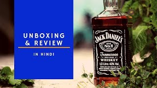Jack Daniels Whiskey Unboxing & Review in Hindi | JD review | Cocktails India | Jack Daniels
