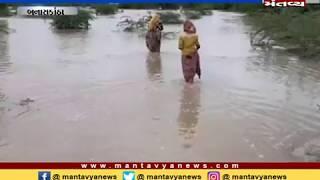 Banaskantha: વાવણી કરેલ પાક પાણીમાં ગરકાવ - Mantavya News