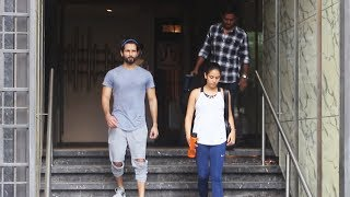 Shahid Kapoor Along With Wife Mira Rajput Spotted At I Think Fitness Juhu