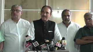 LoP Rajya Sabha Ghulam Nabi Azad addresses media in Parliament House on Tripal Talaq Bill