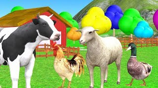 Animals salvajes para nĩnos - Learn Farm Animal Names And Sound for Kids.