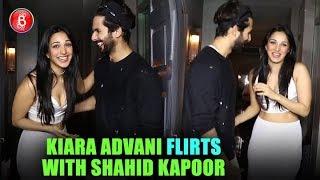 Fun Banter Kiara Advani Flirts With Shahid Kapoor At Her Birthday Bash