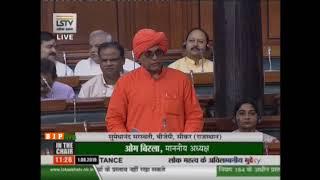 Shri Sumedhanand Saraswati raising Matters of Urgent Public Importance' in Lok Sabha