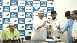 National President of Akhil Bhartiya Majdoor Parishad Joined AAP in Presence of AAP Leaders