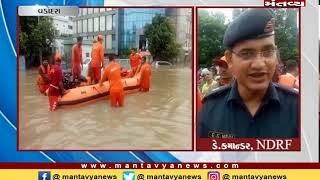 વરસાદથી વડોદરાના હાલ બેહાલ, NDRFની ચાર ટીમ બચાવ કામગીરીમાં લાગી