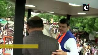 CM Fadnavis holds 'Maha Janadesh Yatra' in Maharashtra's Wardha