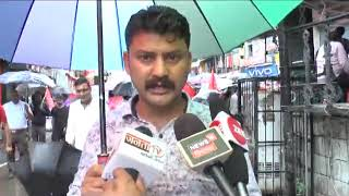 2 AUG N 2 B 1 District CITU and other related associations strongly demonstrate on Gandhi chwonk
