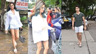 Stunning Shamita Shetty And Handsome Ibrahim Ali Khan Spotted At Kromakay Salon JUHU