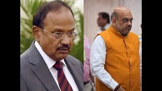 Amit Shah meets Home Secretary and NSA Ajit Doval over Kashmir