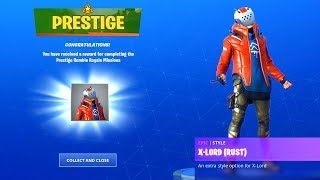 PRESTIGE MISSIONS RUMBLE ROYALE CHALLENGES FREE REWARD ITEMS UNLOCKED FORTNITE