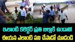 Inspiring Video : Mulugu District Collector Narayana Reddy In Paddy field |
