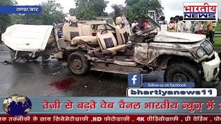 धार जिले के टांडा में बस ओर बोलेरो की टक्कर में अलीराजपुर के पटवारी की मौत। #bn #bhartiyanews