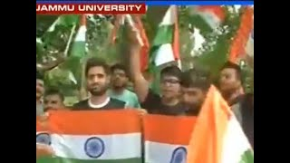 Celebrations at Jammu University as Modi Govt scrap Article 35A and Article 370