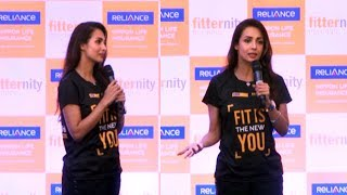 Malaika Arora At The Launch Of #WalkPeChal Campaign By Reliance Nippon Life Insurance Company