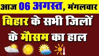 Bihar weather forecast report news Live 06 august 2019.Bihar mausam vibhag बिहार मौसम समाचार न्यूज़.