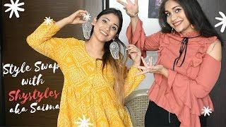 Style Swap with Saima aka Shy Styles | Transformed Saima in ME | Nidhi Katiyar