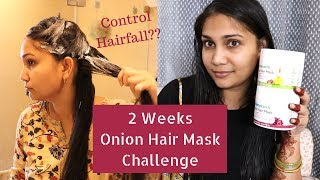 2 Weeks Challenge - Hairfall Control Onion Oil + Organic Bamboo Vinegar Hair Mask | Stop Hair Fall
