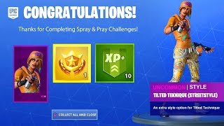 SPRAY & PRAY ALL CHALLENGES (WEEK 2) GUIDE - PRESTIGE MISSION & FREE REWARD ITEMS FORTNITE