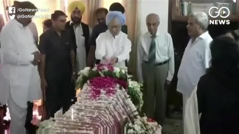 भारत के पूर्व प्रधानमंत्री Manmohan Singh ने पूर्व विदेश मंत्री Sushma Swaraj को दी श्रद्धांजली