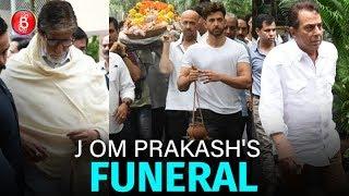 Amitabh Bachchan Dharmendra Attend Hrithik Roshans Grandfather J Om Prakash's Funeral