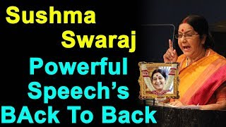 Sushma Swaraj Powerful Speeches Back To Back | BJP | Sushma Swaraj Passed Away | Sushma Swaraj LIVE