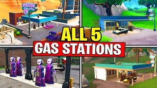 SPRAY DIFFERENT GAS STATIONS - ALL GAS STATION LOCATIONS - SPRAY AND PRAY CHALLENGES GUIDE FORTNITE
