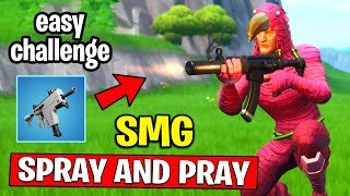 Eliminate Opponents with an SMG less than 15m Away - SPRAY AND PRAY CHALLENGES GUIDE FORTNITE