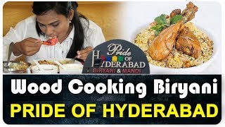 Chicken Biryani Eating Skills | Pride Of Hyderabad Restaurant | Wood Cooking | Top Telugu Kitchen