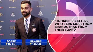 5 Indian cricketers who earn more from brands than from their board