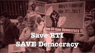 Save RTI Save Democracy | RTI बचाओ